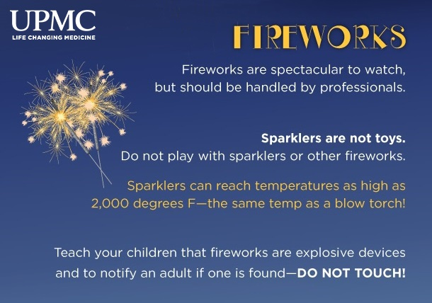 """Summer is synonymous with parades and fireworks displays. With the passing of PA House Bill 542 in October 2017, which made certain fireworks legal to purchase in Pennsylvania, UPMC Mercy Burn Center officials are expecting an increase in the number of injuries this year. Recently, the burn center and Pittsburgh Bureau of Police Bomb Squad came together to stress the dangers of personal firework usage. The bomb squad conducted a demonstration that included placing confiscated homemade fireworks into apples and melons. """"We see serious fireworks injuries every year, especially around the 4th of July holiday. These completely preventable injuries include loss of vision or limbs—specifically fingers and hands,"""" said Jenny Ziembicki, M.D., medical director, UPMC Mercy Burn Center. """"Our message is simple. The public should leave the fireworks to the professionals!"""""""