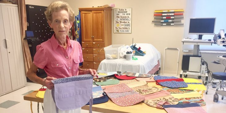 Local Woman Makes Bags for Patients With Walkers at UPMC Passavant