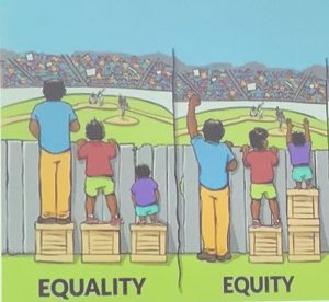 'Equality is not the Same as Equity'