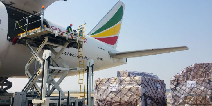 PPE unloaded from cargo plane in Sicily