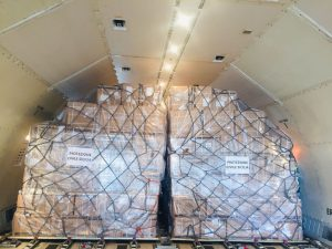PPE on cargo plane for Sicily