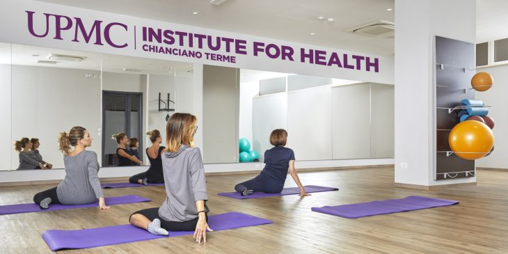 Women do yoga at the UPMC Institute for Health Chianciano Terme